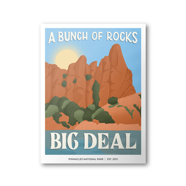 Pinnacles National Park Poster | Subpar Parks Poster - Albion Mercantile Co.