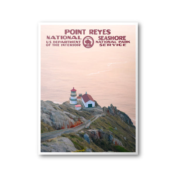 Point Reyes National Seashore Poster - Albion Mercantile Co.