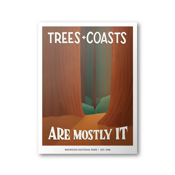 Redwood National Park Poster | Subpar Parks Poster - Albion Mercantile Co.