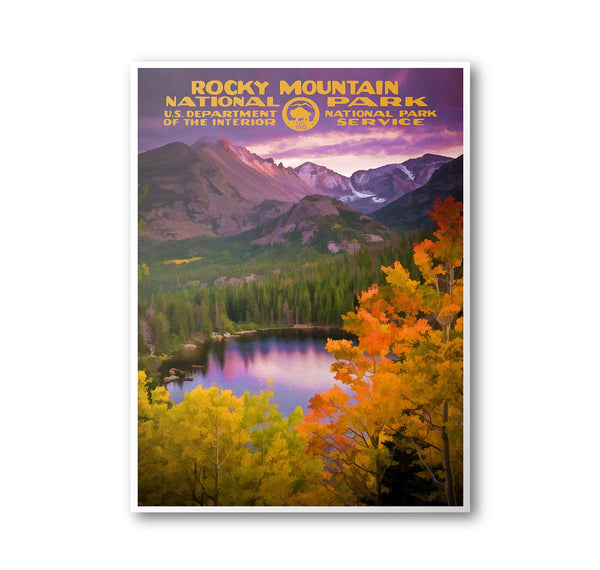 Rocky Mountain National Park Poster (Bear Lake) - Albion Mercantile Co.