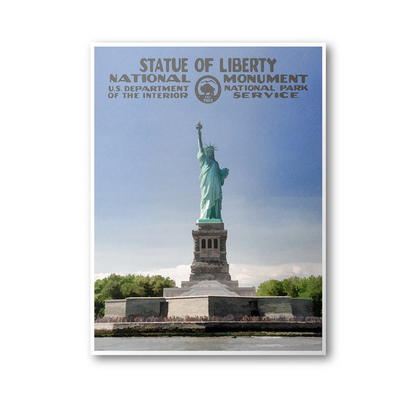 Statue of Liberty National Monument Poster - Albion Mercantile Co.