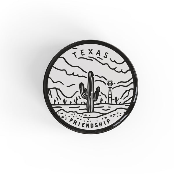 Texas Button Pin