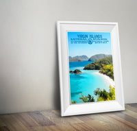 Virgin Islands National Park Poster - Albion Mercantile Co.
