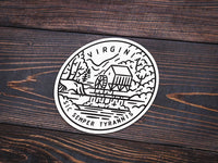 Virginia Sticker - Albion Mercantile Co.