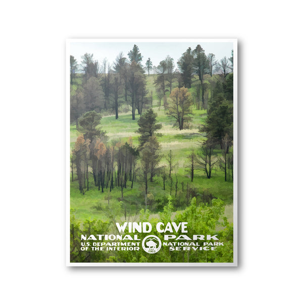 Wind Cave National Park Poster - Albion Mercantile Co.