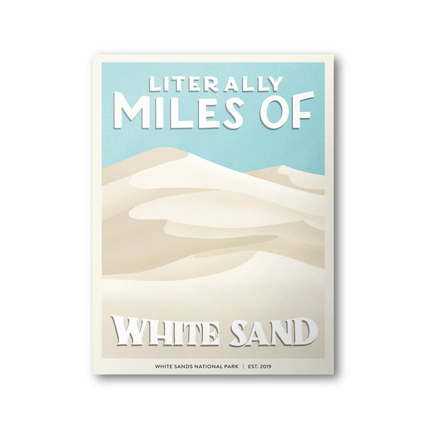 White Sands National Park Poster | Subpar Parks Poster - Albion Mercantile Co.