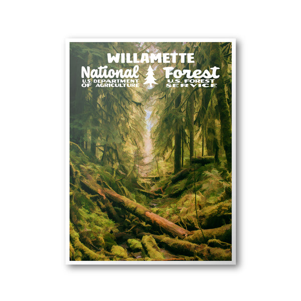 Willamette National Forest Poster
