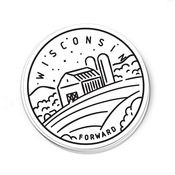 Wisconsin Sticker - Albion Mercantile Co.