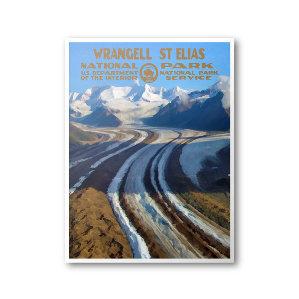 Wrangell - St. Elias National Park Poster - Albion Mercantile Co.