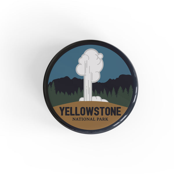 Yellowstone National Park Button Pin