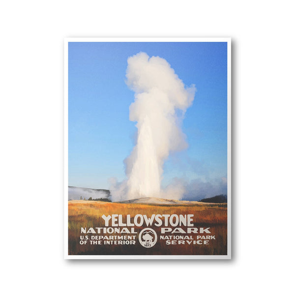 Yellowstone National Park Poster (Old Faithful) - Albion Mercantile Co.