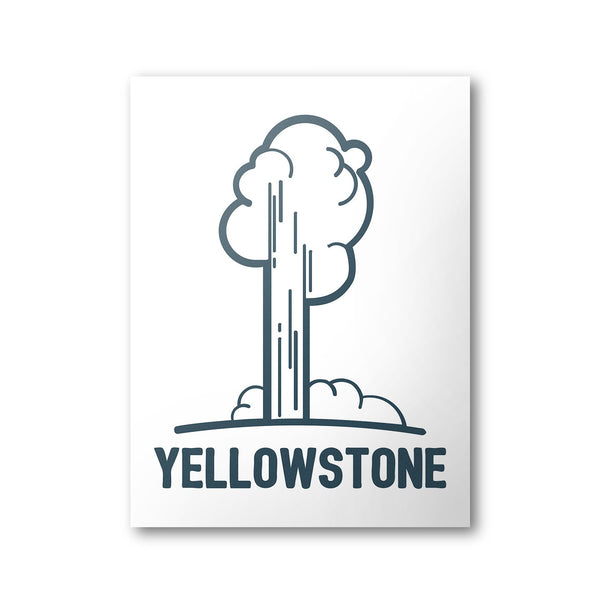 Yellowstone National Park Poster | National Park Print - Albion Mercantile Co.