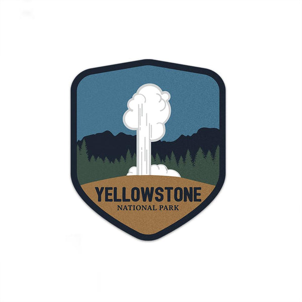 Yellowstone National Park Sticker | National Park Decal - Albion Mercantile Co.