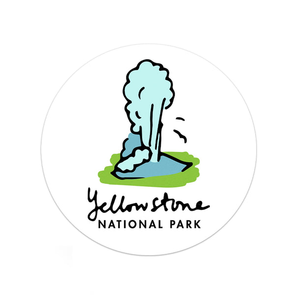 Yellowstone National Park Sticker - Albion Mercantile Co.