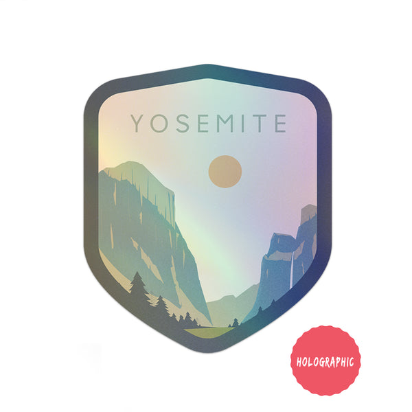 Yosemite National Park Sticker | Holographic National Park Decal