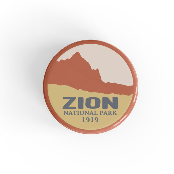 Zion National Park Button Pin