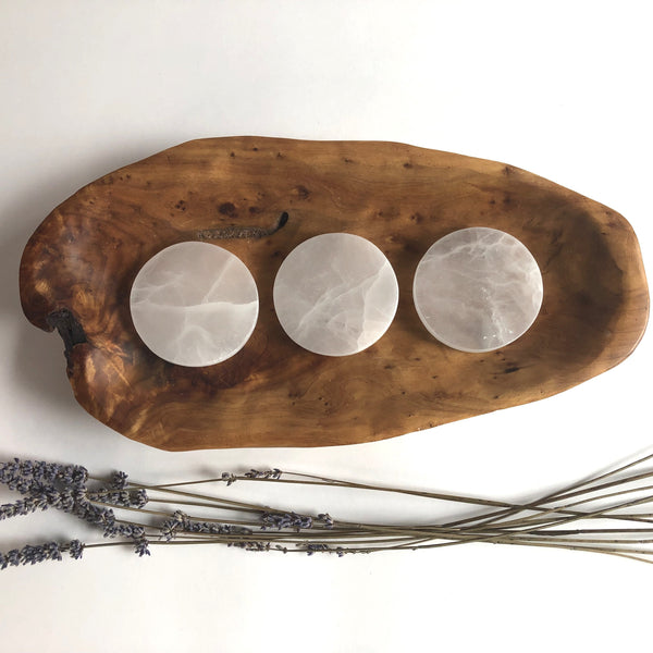 SELENITE CLEARING PLATE - Chi for Healing