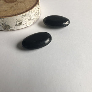 SHUNGITE PALM STONES - SET OF 2 - Chi for Healing