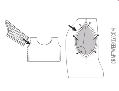 How To Make A Dress (Step 4) - Attach The Sleeves