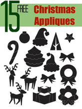 Load image into Gallery viewer, 15 Christmas Appliques - FREE