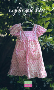 Nightingale Dress PDF Sewing Pattern Size 2T - 14