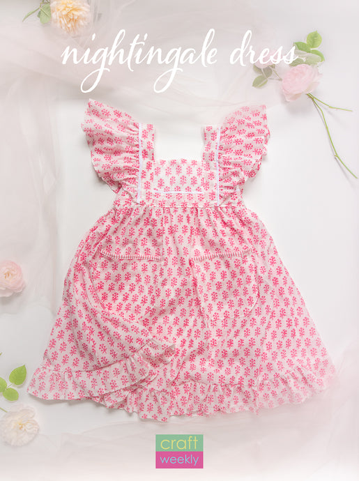 Nightingale Dress - PDF Sewing Pattern Size 2T - 14 Kids