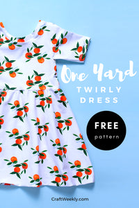 Free One Yard Twirly Dress Sewing Pattern 3T