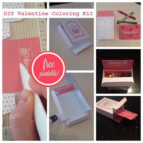 Printable Valentine Coloring Kit