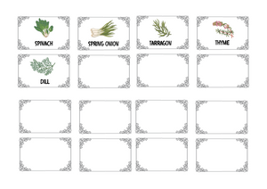 Herbs Labels  -part of the Herb & spices range