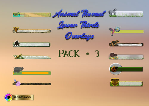 Animal Lower Thirds Overlays Pack #3
