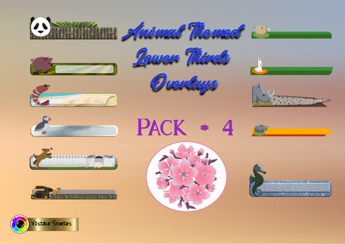 Animal Lower Thirds or Overlays Pack #4