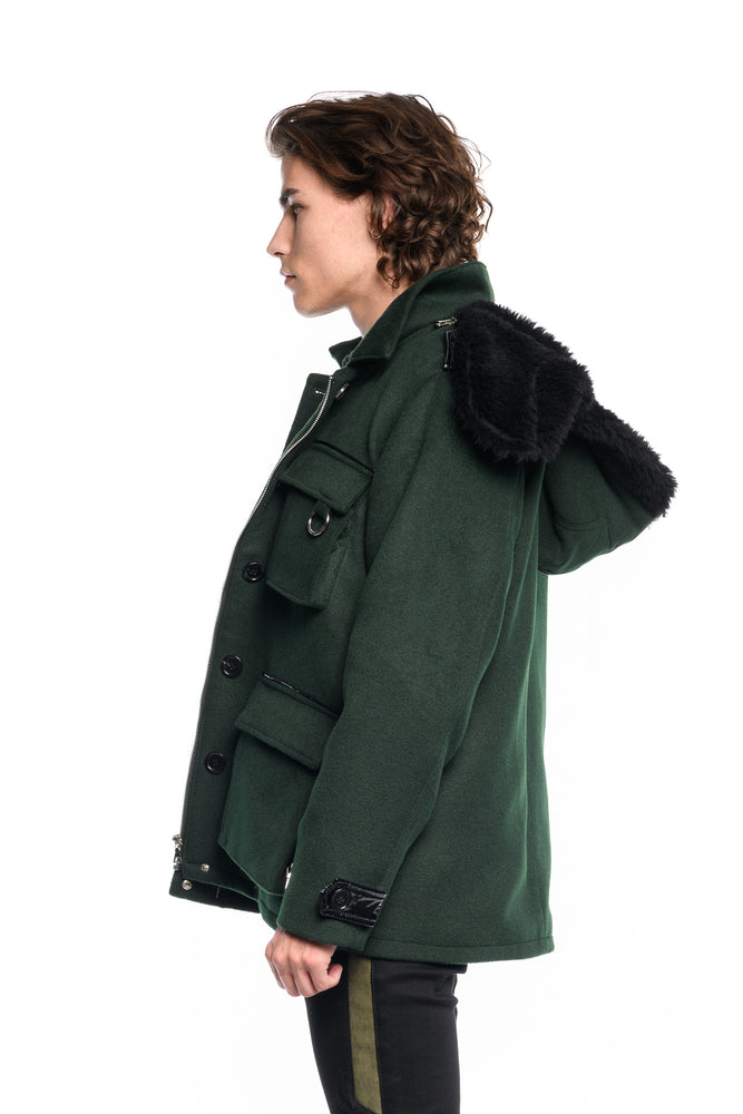 M65 FOREST WOOL COAT
