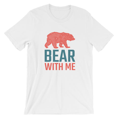 White T-Shirt with Bear with me print