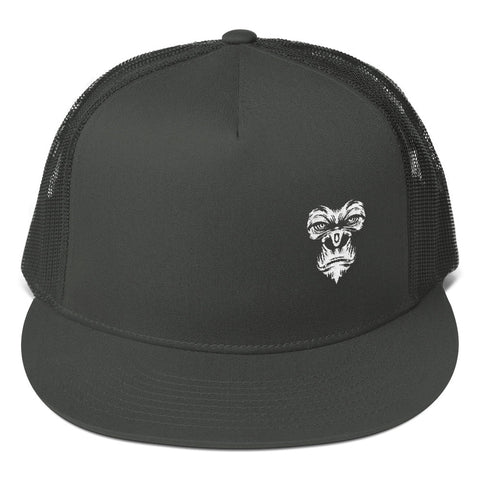 Black snapback cap with gorilla embroidery