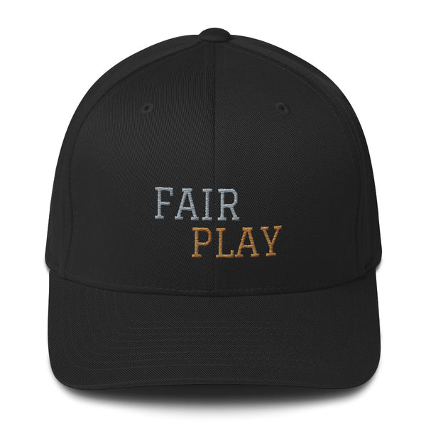 Black cap with fair play embroidery