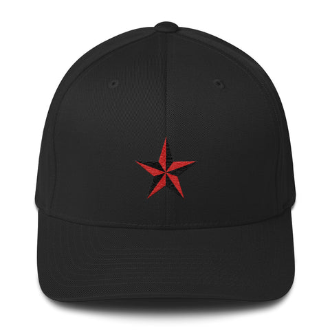 Black cap with Star embroidery