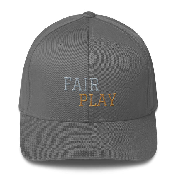 Grey cap with fair play embroidery