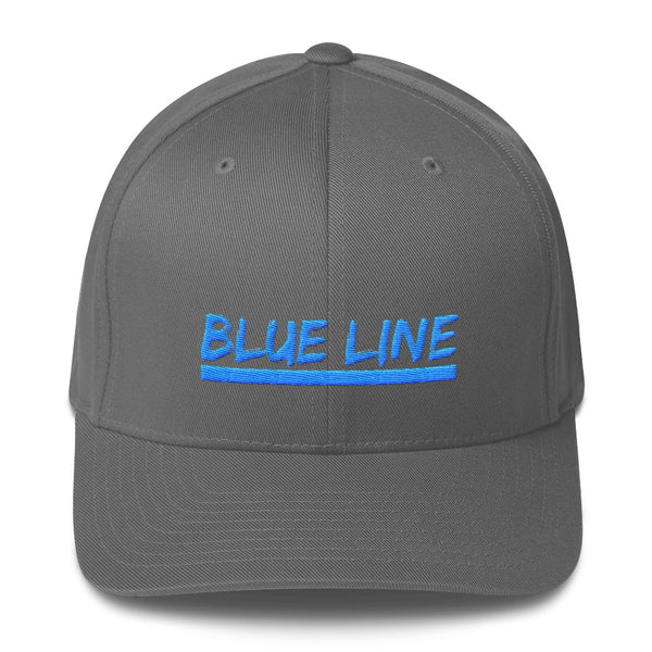 Structured twill cap with Blue Line embroidery