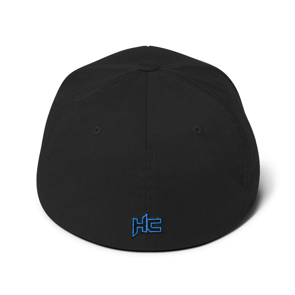 Back black structured twill with HC logo