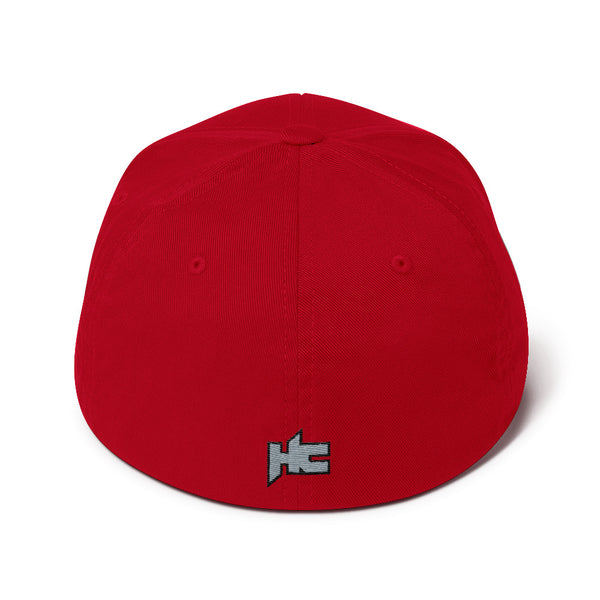 Back or red Structured twill cap with hc logo embroidery