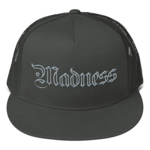 Mesh back snapback with madness embroidery