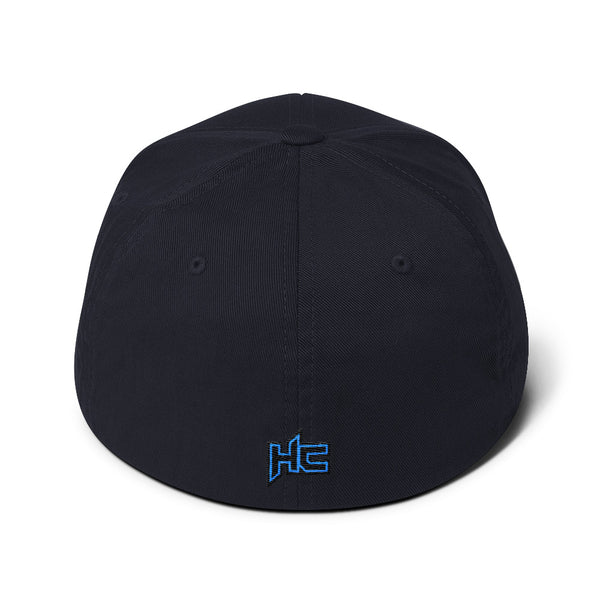 Back Dark navy structured twill with HC logo