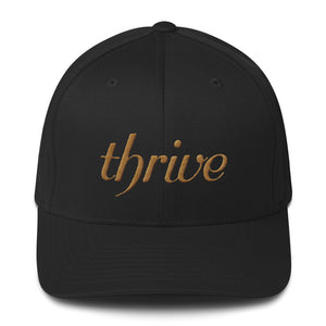 Black cap with thrive embroidery
