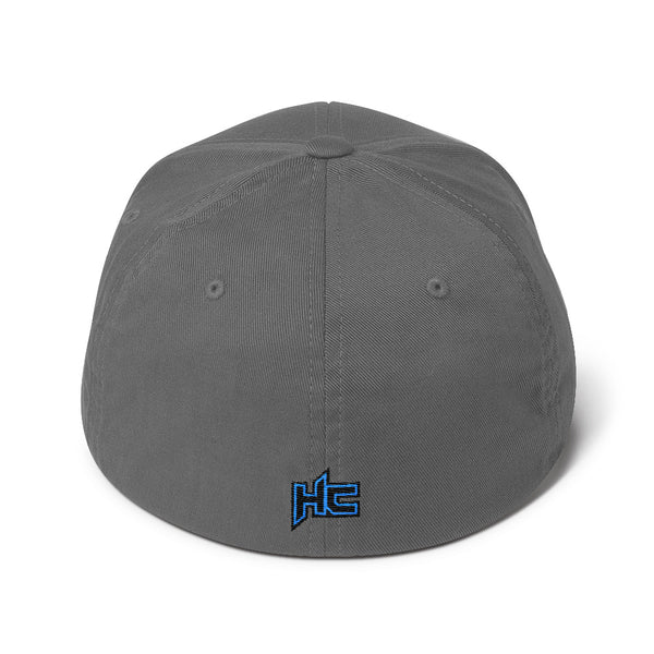 Back grey structured twill with HC logo