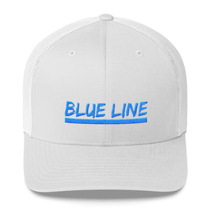 Trucker cap with Blue Line embroidery