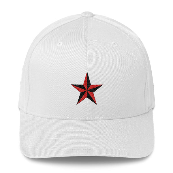 White cap with Star embroidery