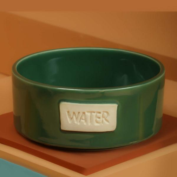Forest Green Water Bowl