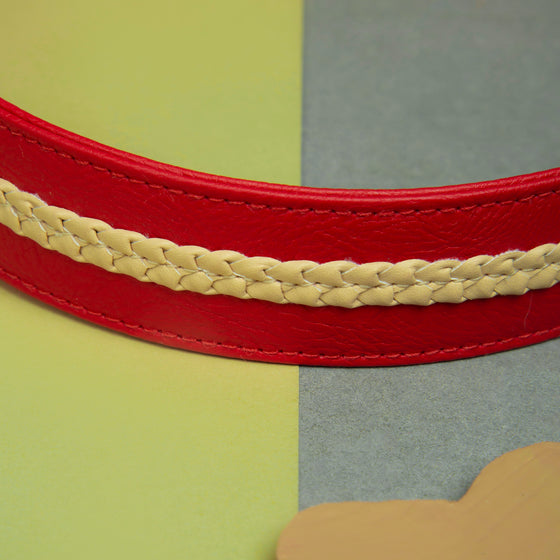 Candy Apple Red Collar