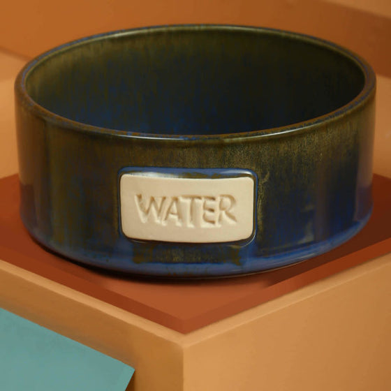 Cobalt & Slate Water Bowl