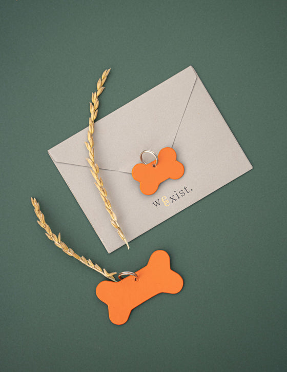 Tangerine Orange Name Tag